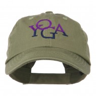 Yoga in two colors Embroidered Cap - Olive
