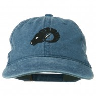 Zodiac Aries Embroidered Washed Cap - Navy