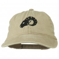 Zodiac Aries Embroidered Washed Cap - Khaki