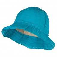 Girl's Bow Accent Bucket Hat - Turquoise