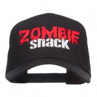 Zombie Snack Embroidered Twill Cap - Black