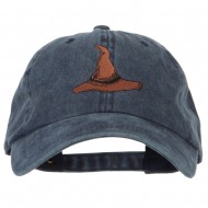 Wizard Brown Hat Embroidered Unstructured Cotton Cap - Navy