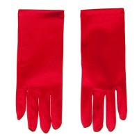 Glove - Red Satin 2BL Glove