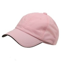 Ball Cap - Pink 6 Panel Athletic b, Mesh Cap