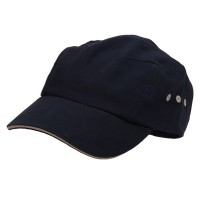 Ball Cap - Navy Natural Brushed Canvas Bicycle Caps