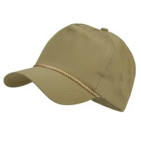 Ball Cap - Khaki Light Cotton Twill Golf Cap