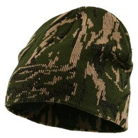 Beanie - Forest Green Camo Knit Cap