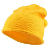 Beanie - Gold Children Knitting Hat