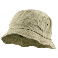 Bucket - Khaki Big Size Washed Hat