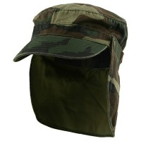 Flap Cap - Camo Army Cap with Removable Flap