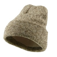 Beanie - Natural Acrylic Ribbed Cuff Beanie | Coupon Free | e4Hats.com