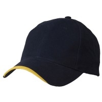 Ball Cap - Navy Gold Deluxe Brushed Cotton Caps