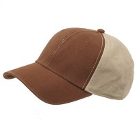 Ball Cap - Brown Khaki Brushed Cotton Canvas Cap