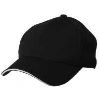 Ball Cap - Black Jersey 6 Panel Mesh Cap