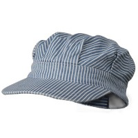 Cadet - Blue Light Striped Conductor's Cap