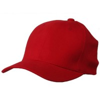 Ball Cap - Red Brushed Cotton Cap