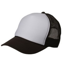 Ball Cap - Brown White Foam Mesh Trucker Cap