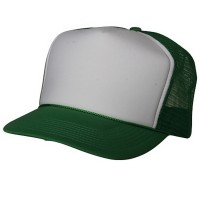 Ball Cap - White Kelly Foam Mesh Trucker Cap
