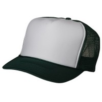 Ball Cap - Dark Green Foam Mesh Trucker Cap