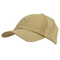 Ball Cap - Khaki 6 panel Light Cotton Cap
