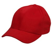 Ball Cap - Red Ladies Brushed Cotton Cap