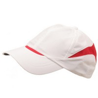 Ball Cap - White Red Low Moisture Absorbing Cap