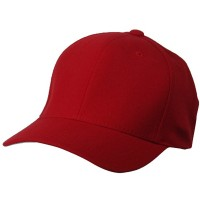 Ball Cap - Red Ultra Fit Deluxe Brushed Cap