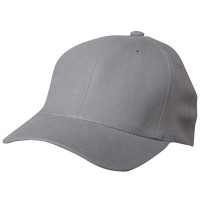 Ball Cap - Grey Ultra Fit Deluxe Brushed Cap
