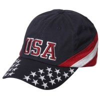 Embroidered Cap - USA Star Patriotic Cap | Coupon Free | e4Hats.com