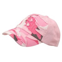Ball Cap - Pink Camo Patched Enzyme Washed Cap