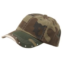 Ball Cap - Camo Rhinestone Cotton Cap