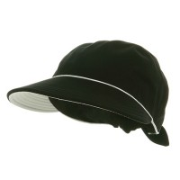 Outdoor - Black Piping Decoration Canvas Cap