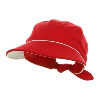 Outdoor - Red Piping Decoration Canvas Cap