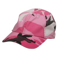 Ball Cap - Pink uflage Enzyme Washed Camo Cap