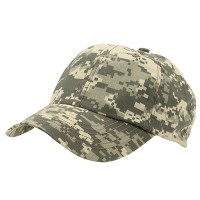Ball Cap - Digital Camo uflage Enzyme Washed Camo Cap