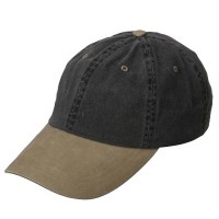 Ball Cap - Black Khaki Low Profile Washed Cap