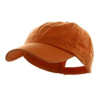 Ball Cap - Orange Washed Chino Cotton Twill Cap