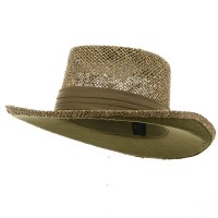 Outdoor - Khaki Gambler Straw Hat