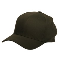Ball Cap - Olive Wooly Combed Twill Flexfit Cap