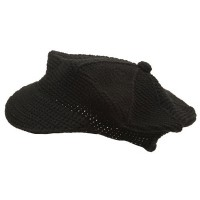 Newsboy - Black Crocheted Newsboy