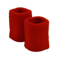 Band - Red Wristb, Pair (terry)