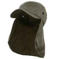 Flap Cap - Grey Camouflaged Sun Cap