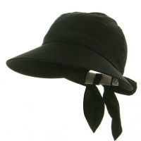 Outdoor - Black Solid Large Peak Hats
