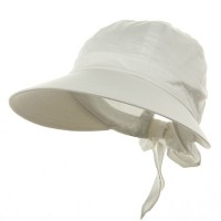Outdoor - White Solid Large Peak Hats