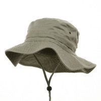 Outdoor - Beige Dyed Twill Washed Buckets | Coupon Free | e4Hats.com