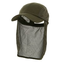 Flap Cap - Olive Sun Cap With Flaps