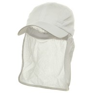 Flap Cap - White Sun Cap With Flaps