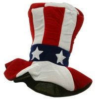 Costume - Velvet Uncle Sam Top Hat | Free Shipping | e4Hats.com