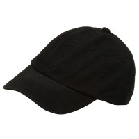 Ball Cap - Black Youth Washed Chino Twill Cap