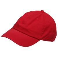 Ball Cap - Red Youth Washed Chino Twill Cap